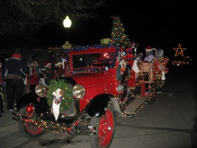 Fire Truck in the 2010 Christmas Parade